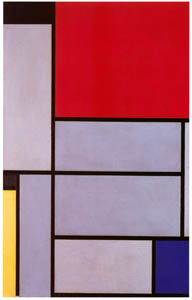 thumbnail Piet Mondrian – Tableau I [from Mondrian: 1872-1944: Structures in Space]
