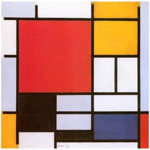 ピート・モンドリアン – 赤と黄と青と黒のコンポジション (ピート・モンドリアン 1872-1944 虚空の楼閣より)のサムネイル画像
