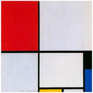 ピート・モンドリアン – 赤と黄と青のコンポジション (ピート・モンドリアン 1872-1944 虚空の楼閣より)のサムネイル画像