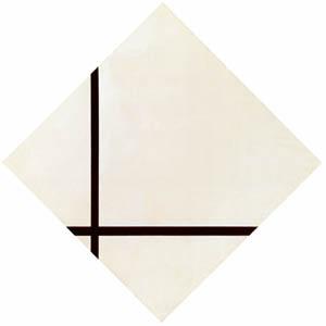 ピート・モンドリアン – 2本の線のあるコンポジション (ピート・モンドリアン 1872-1944 虚空の楼閣より)のサムネイル画像
