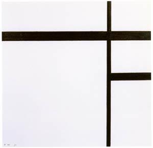 ピート・モンドリアン – 黒い線のコンポジション II (ピート・モンドリアン 1872-1944 虚空の楼閣より)のサムネイル画像