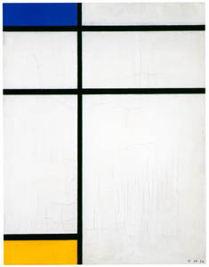 thumbnail Piet Mondrian – Compositie met blauw, geel en wit [from Mondrian: 1872-1944: Structures in Space]