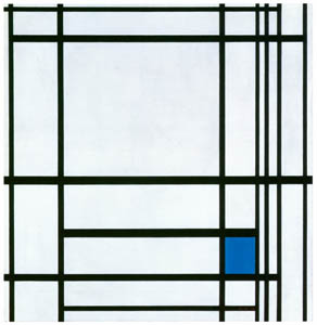 thumbnail Piet Mondrian – Compositie met blauw [from Mondrian: 1872-1944: Structures in Space]