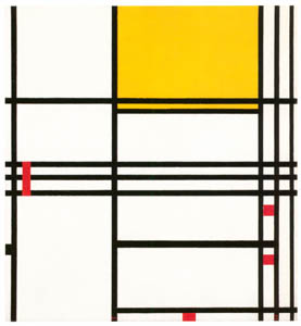 thumbnail Piet Mondrian – Compositie met zwart, wit, geel en rood [from Mondrian: 1872-1944: Structures in Space]