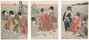 喜多川歌麿 – 二見ヶ浦 (浮世絵聚花 ボストン美術館3 歌麿より)のサムネイル画像