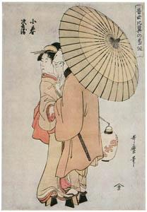 thumbnail Kitagawa Utamaro – Koharu and Jihei, from the series Musical Program of True Love [from Ukiyo-e shuka. Museum of Fine Arts, Boston III]