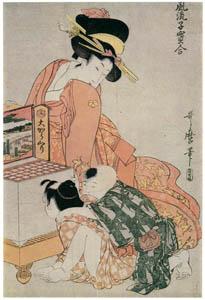 thumbnail Kitagawa Utamaro – The Large Peepshow, from the series Fashionable Comparisons of Precious Children [from Ukiyo-e shuka. Museum of Fine Arts, Boston III]