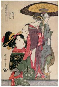 thumbnail Kitagawa Utamaro – Umegawa and Chûbei, from the series Manipulations of Love With Musical Accompaniment [from Ukiyo-e shuka. Museum of Fine Arts, Boston III]