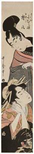 喜多川歌麿 – 三うらや小むら咲 白井権八 (浮世絵聚花 ボストン美術館3 歌麿より)のサムネイル画像