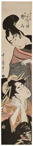 thumbnail Kitagawa Utamaro – Komurasaki of the Miuraya and Shirai Gonpachi [from Ukiyo-e shuka. Museum of Fine Arts, Boston III]