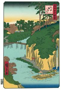 歌川広重 – 王子滝の川 (廣重名所江戸百景 新印刷によるより)のサムネイル画像