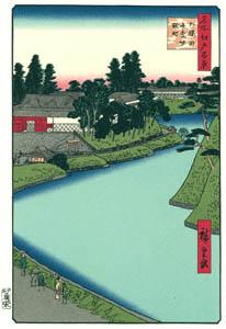 thumbnail Utagawa Hiroshige – The Benkei Moat from Soto-Sakurada to Kōjimachi [from One Hundred Famous Views of Edo (kurashi-no-techo Edition)]
