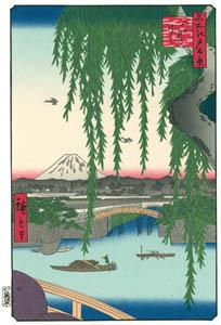 歌川広重 – 八ツ見のはし (廣重名所江戸百景 新印刷によるより)のサムネイル画像