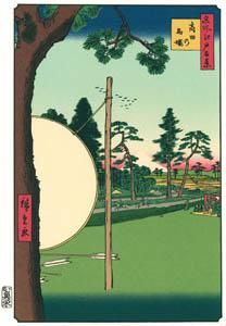 thumbnail Utagawa Hiroshige – The Takata Riding Grounds [from One Hundred Famous Views of Edo (kurashi-no-techo Edition)]