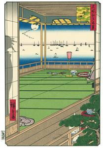 thumbnail Utagawa Hiroshige – Moon Viewing [from One Hundred Famous Views of Edo (kurashi-no-techo Edition)]