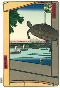 thumbnail Utagawa Hiroshige – Mannen Bridge in Fukagawa [from One Hundred Famous Views of Edo (kurashi-no-techo Edition)]