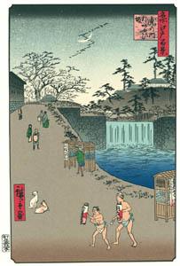 歌川広重 – 虎の門外あふひ坂 (廣重名所江戸百景 新印刷によるより)のサムネイル画像