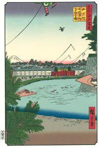 歌川広重 – 山下町 日比谷外 さくら田 (廣重名所江戸百景 新印刷によるより)のサムネイル画像
