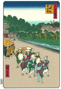 thumbnail Utagawa Hiroshige – Shiba Shinmei Shrine and Zōjōji Temple [from One Hundred Famous Views of Edo (kurashi-no-techo Edition)]