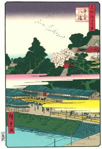 thumbnail Utagawa Hiroshige – Hachiman Shrine in Ichigaya [from One Hundred Famous Views of Edo (kurashi-no-techo Edition)]