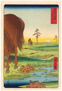 thumbnail Utagawa Hiroshige – Kogane Plain in Shimōsa Province [from Thirty-six Views of Mount Fuji]