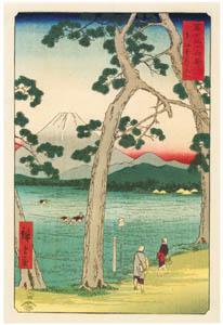 thumbnail Utagawa Hiroshige – Fuji on the left of the Tōkaidō Road [from Thirty-six Views of Mount Fuji]