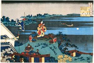 thumbnail Katsushika Hokusai – Poem by Abe no Nakamaro, from the series One Hundred Poems Explained by the Nurse [from Meihin Soroimono Ukiyo-e]