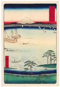 thumbnail Utagawa Hiroshige – Kuroto Bay in Kazusa Province [from Thirty-six Views of Mount Fuji]