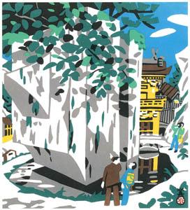 川西英 – 石の宝殿 (兵庫百景Iより)のサムネイル画像