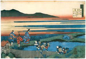 thumbnail Katsushika Hokusai – Poem by Minamoto no Hitoshi, from the series One Hundred Poems Explained by the Nurse [from Meihin Soroimono Ukiyo-e]