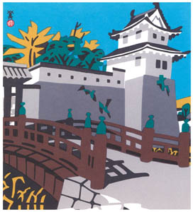 thumbnail Kawanishi Hide – Akō Castle [from One Hundred Scenes of Hyogo]