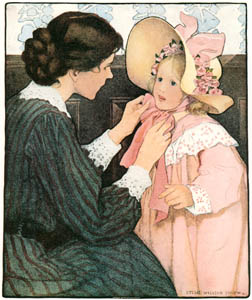 thumbnail Jessie Willcox Smith – Hats  (The Bed-time Book by Helen Hay) [from Jessie Willcox Smith: American Illustrator]