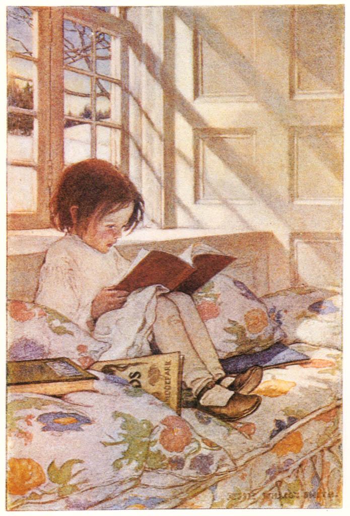 ジェシー・ウィルコックス・スミス – 冬の絵本 (ジェシー・ウィルコックス・スミス: アメリカンイラストレーターより) パブリックドメイン画像