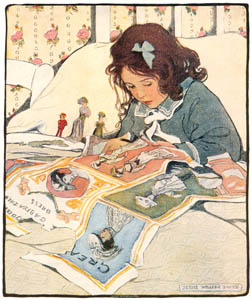 thumbnail Jessie Willcox Smith – Picture Papers (The Bed-Time Book by Helen Hay Whitney) [from Jessie Willcox Smith: American Illustrator]