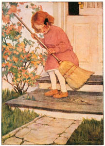 thumbnail Jessie Willcox Smith – Doorsteps (Dream Blocks, by Aileen Higgins) [from Jessie Willcox Smith: American Illustrator]