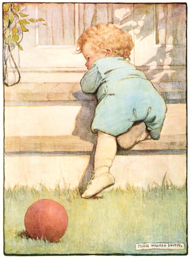 ジェシー・ウィルコックス・スミス – 幼児の男の子 (ジェシー・ウィルコックス・スミス: アメリカンイラストレーターより) パブリックドメイン画像
