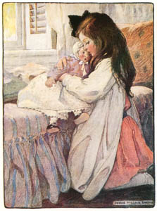thumbnail Jessie Willcox Smith – Then the Lover sighing like a furnace (The Seven Ages of Childhood by Carolyn Wells) [from Jessie Willcox Smith: American Illustrator]