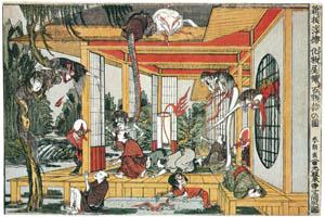 葛飾北斎 – 新板浮絵化物屋鋪百物語の図 (名品揃物浮世絵9 北斎IIより)のサムネイル画像