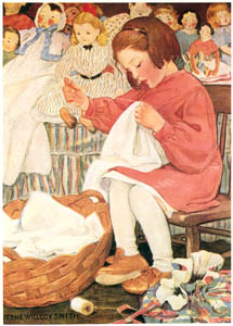 thumbnail Jessie Willcox Smith – How Doth the Busy Bee (A Child's Book of Old Verses) [from Jessie Willcox Smith: American Illustrator]