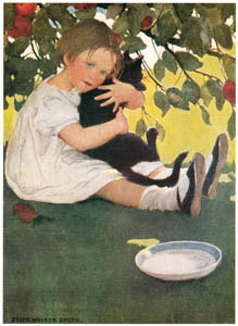 thumbnail Jessie Willcox Smith – I Love Little Pussy (A Child's Book of Old Verses) [from Jessie Willcox Smith: American Illustrator]