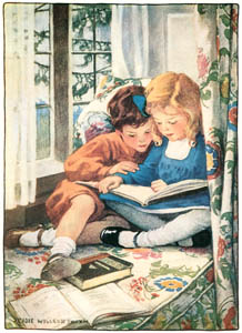 thumbnail Jessie Willcox Smith – Merry Christmas (The Way to Wonderland by Mary Stewart) [from Jessie Willcox Smith: American Illustrator]