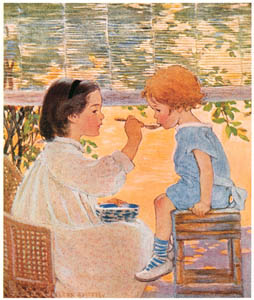 thumbnail Jessie Willcox Smith – Playing Mother (A Very Little Child's Book of Stories by Ada M. and Eleanor L. Skinner) [from Jessie Willcox Smith: American Illustrator]