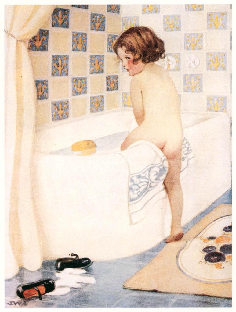 ジェシー・ウィルコックス・スミス – Standard Plumbing Fixturesの1924年6月の広告 (ジェシー・ウィルコックス・スミス: アメリカンイラストレーターより) パブリックドメイン画像
