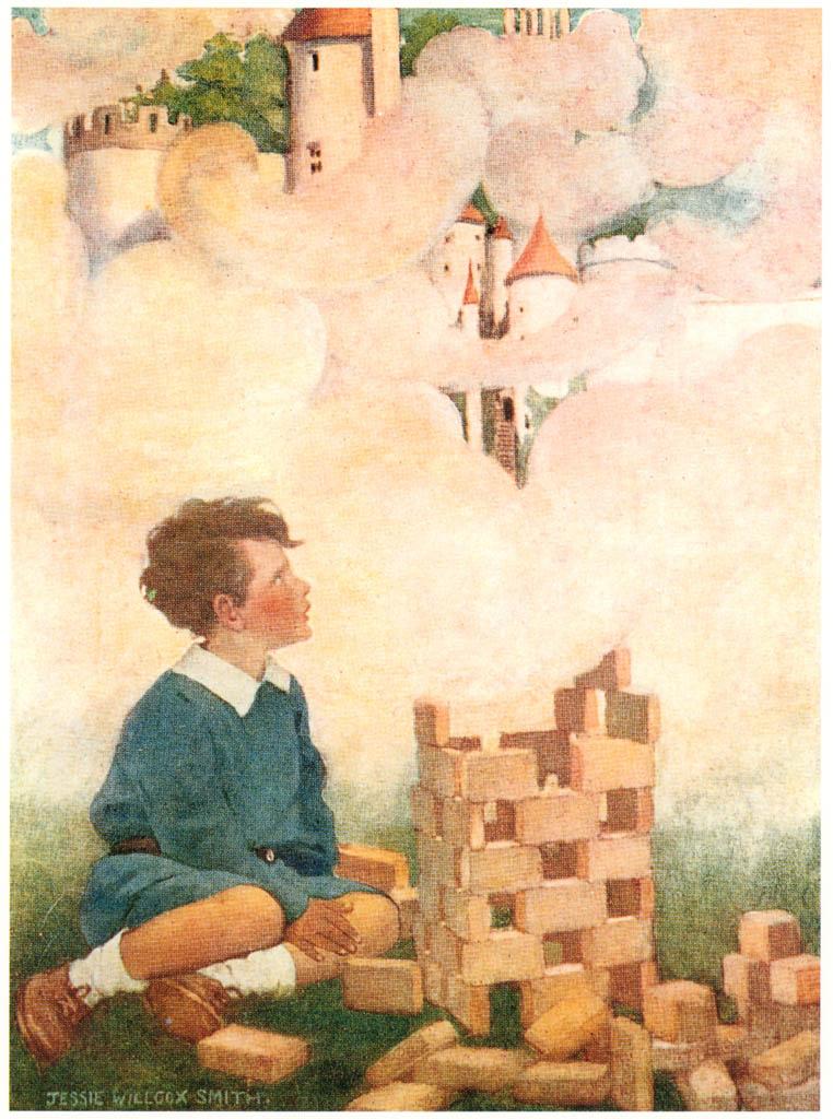 ジェシー・ウィルコックス・スミス – 夢の積木 (ジェシー・ウィルコックス・スミス: アメリカンイラストレーターより) パブリックドメイン画像