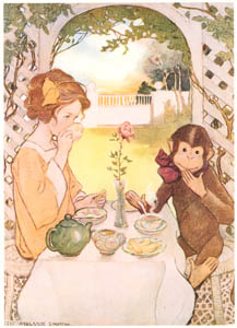 thumbnail Jessie Willcox Smith – Beauty and the Beast (The Now-A-Days Fairy Book by Anna Alice Chapin) [from Jessie Willcox Smith: American Illustrator]