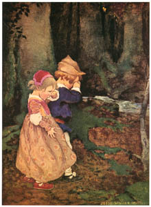 thumbnail Jessie Willcox Smith – Babes in the Wood (A Child's Book of Stories by Penrhyn W. Coussens) [from Jessie Willcox Smith: American Illustrator]