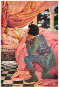ジェシー・ウィルコックス・スミス – 眠れる森の美女 (ジェシー・ウィルコックス・スミス: アメリカンイラストレーターより)のサムネイル画像