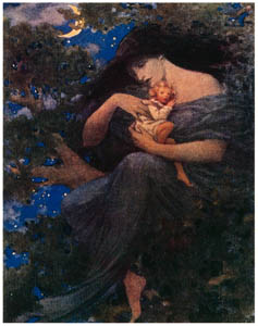 thumbnail Jessie Willcox Smith – On the Top of the Great Beech-tree (At the Back of the North Wind by George Macdonald) [from Jessie Willcox Smith: American Illustrator]