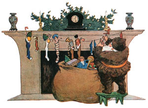 thumbnail Jessie Willcox Smith – He was chubby and plump, a right jolly old elf (Twas the Night Before Christmas by Clement C. Moore) [from Jessie Willcox Smith: American Illustrator]
