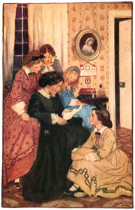 thumbnail Jessie Willcox Smith – They all drew to the fire (Little Women by Louisa May Alcott) [from Jessie Willcox Smith: American Illustrator]